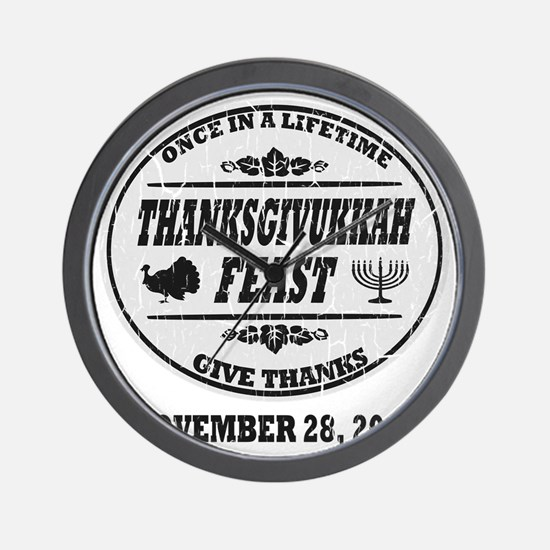 Vintage Once in a Lifetime Thanksgivukk Wall Clock