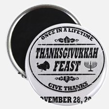 Vintage Once in a Lifetime Thanksgivukkah Magnet