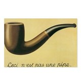 This is not a pipe magritte Postcards