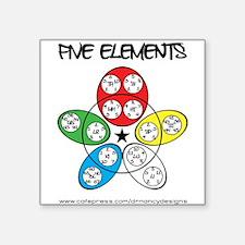 """Five Elements Square Sticker 3"""" x 3"""""""