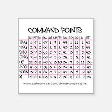 "Command Points Square Sticker 3"" x 3"""