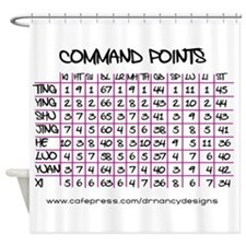 Command Points Shower Curtain