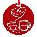 Christmas coffee Round Ornament