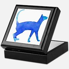 Watercolor cat Keepsake Box