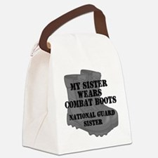 National Guard Sister Combat Boots Canvas Lunch Ba