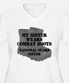 National Guard Sister Combat Boots Plus Size T-Shi