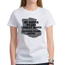 National Guard Sister Combat Boots T-Shirt