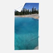 Blue Geyser Pool Beach Towel