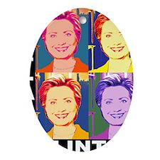Hilary Pop Art Oval Ornament