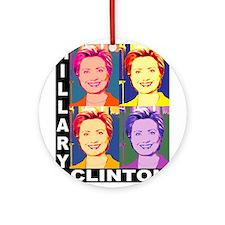 Hilary Pop Art Ornament (Round)
