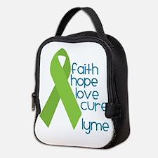 Lyme Disease -Faith-Hope-Cure-Neoprene Lunch Bag