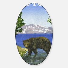 Funny Lake tahoe Sticker (Oval)