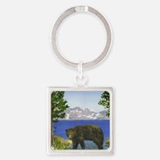 Unique Lake tahoe Square Keychain