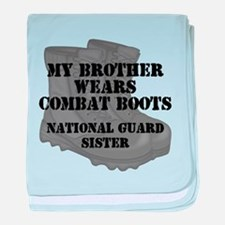 National Guard Sister Brother Combat Boots baby bl
