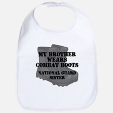 National Guard Sister Brother Combat Boots Bib