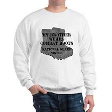 National Guard Sister Brother Combat Boots Sweatsh