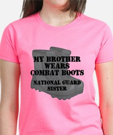 National Guard Sister Brother Combat Boots T-Shirt
