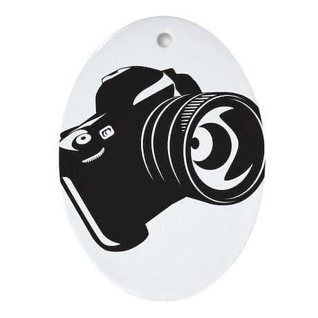 Camera - Photographer Ornament (Oval)