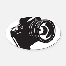 Camera - Photographer Oval Car Magnet