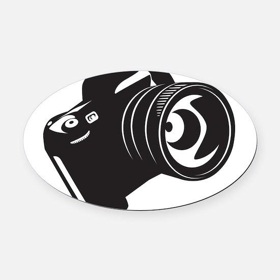 Camera - Photographer Oval Car Magnet