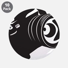 """Camera - Photographer 3.5"""" Button (10 pack)"""