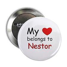 My heart belongs to nestor Button