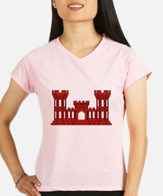 Army Engineer (Red Castle) Performance Dry T-Shirt