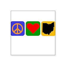 Peace Love Ohio Sticker