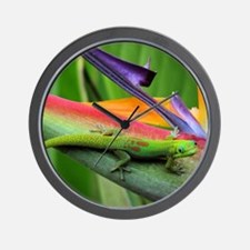 Hawaiian Gecko Wall Clock
