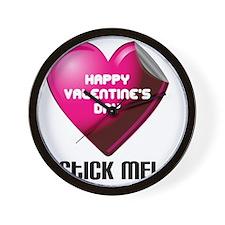 Valentines_Stick_ME Wall Clock