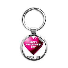 Valentines_Stick_ME Round Keychain