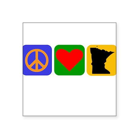 Peace Love Minnesota Sticker
