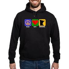Peace Love Minnesota Hoodie