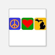 Peace Love Michigan Sticker
