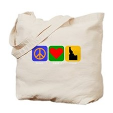 Peace Love Idaho Tote Bag