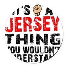 Jersey Thing Round Car Magnet