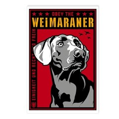 Obey the Weimaraner Postcards (Pack of 8)