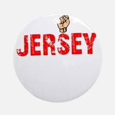 Jersey Thing - dk Round Ornament