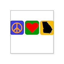 Peace Love Georgia Sticker