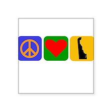 Peace Love Delaware Sticker