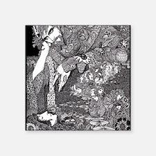 """Morella by Harry Clarke Square Sticker 3"""" x 3"""""""
