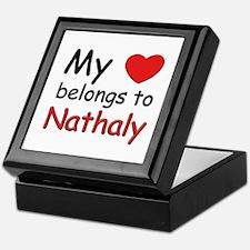 My heart belongs to nathaly Keepsake Box