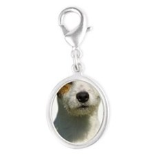 Jack Russell T errier 9M097D-04 Silver Oval Charm