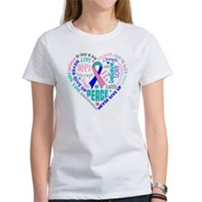 Thyroid Cancer Heart Words Tee