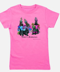 Scottish Terrier Party Animals Girl's Tee