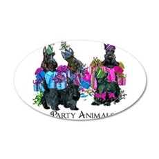 Scottish Terrier Party Anima Wall Decal