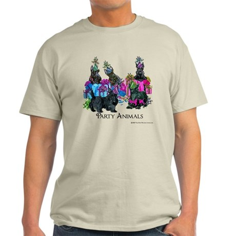Scottish Terrier Party Animals Light T-Shirt