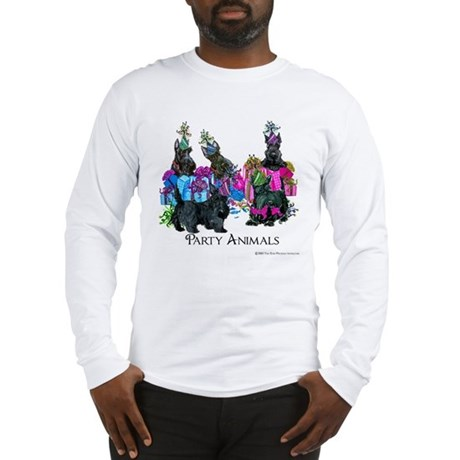 Scottish Terrier Party Animals Long Sleeve T-Shirt