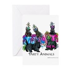 Scottish Terrier Party A Greeting Cards (Pk of 10)