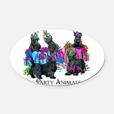 Scottish Terrier Party Animals Oval Car Magnet